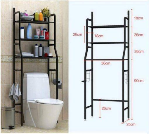 Kệ để đồ nhà tắm nhà vệ sinh sau Toilet thông minh 3 tầng