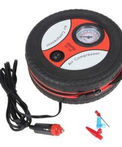 Bơm Lốp Điện Đa Năng 12v Hình Bánh Xe Máy Bơm Lốp Ô Tô Mini1