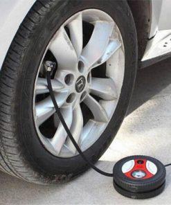 Bơm Lốp Điện Đa Năng 12v Hình Bánh Xe Máy Bơm Lốp Ô Tô Mini2